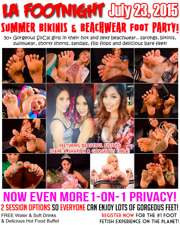 Footnight Los Angeles Summer Beach Feet Foot Worship Party!