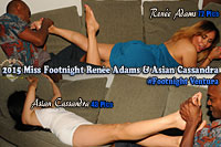 Foot sessions with Renee Adams and Asian Cassandra at Footnight Ventura