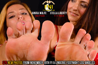 Footnight Los Angeles Janira Wolfe and Stella Liberty Feet