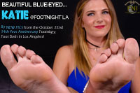 Katie at Footnight's 14th Year Anniversary Foot Party in LA.