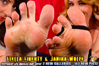 Janira Wolfe and Stella Liberty at Footnight Los Angeles