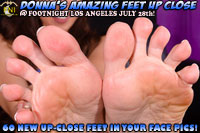 Donna's amazing feet up close at Footnight Los Angeles