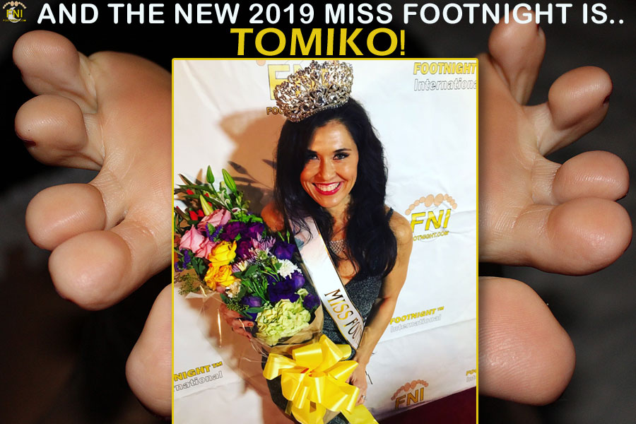 The new 2019 Miss Footnight - TOMIKO!