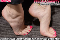 Stella Liberty's perfect high arched feet