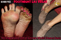 Shawna's size 10 feet at Footnight Las Vegas