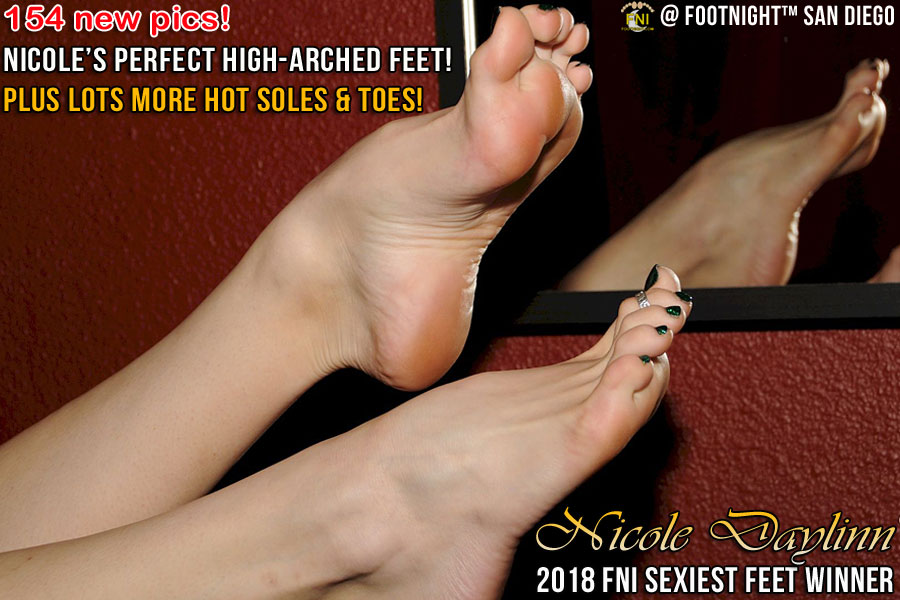 Nicole Daylinn's perfect high arched feet and more!