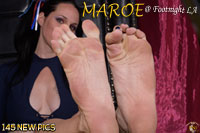 Maroe's high-arched size 10 feet and long toes