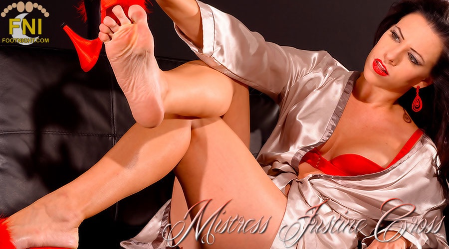 The Feet of Regal and Beautiful Mistress Justine Cross